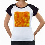 Orange decor Women s Cap Sleeve T Front