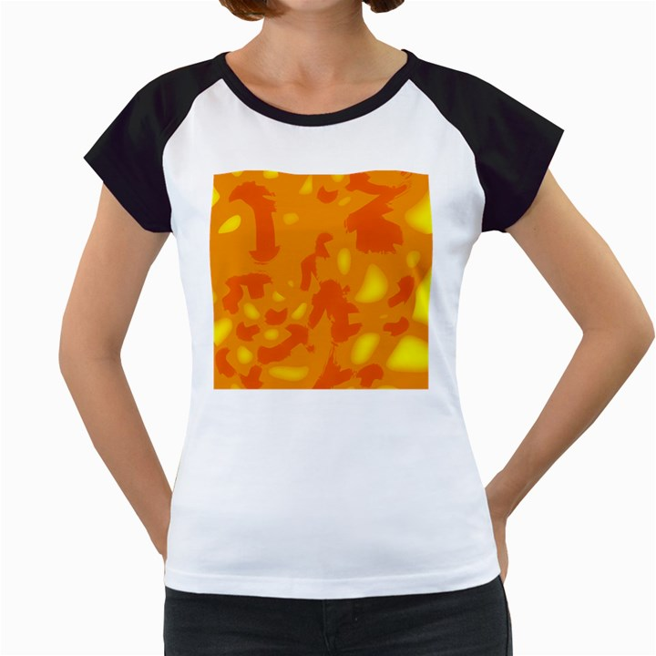 Orange decor Women s Cap Sleeve T