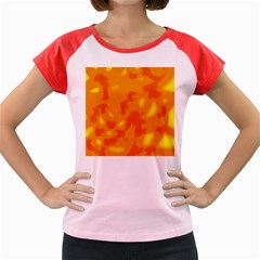 Orange Decor Women s Cap Sleeve T Shirt