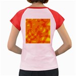 Orange decor Women s Cap Sleeve T-Shirt Back