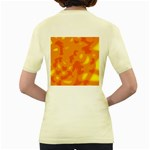 Orange decor Women s Yellow T-Shirt Back