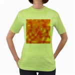 Orange decor Women s Green T-Shirt Front