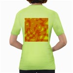 Orange decor Women s Green T-Shirt Back