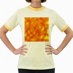 Orange Decor Women s Fitted Ringer T Shirts