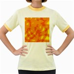 Orange decor Women s Fitted Ringer T-Shirts Front