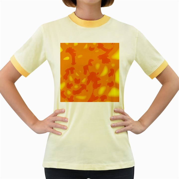Orange decor Women s Fitted Ringer T-Shirts