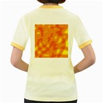 Orange decor Women s Fitted Ringer T-Shirts Back