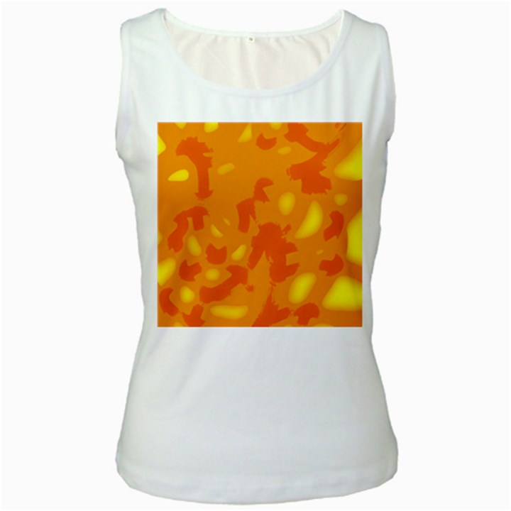 Orange decor Women s White Tank Top