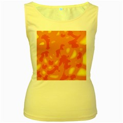 Orange decor Women s Yellow Tank Top