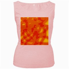 Orange Decor Women s Pink Tank Top