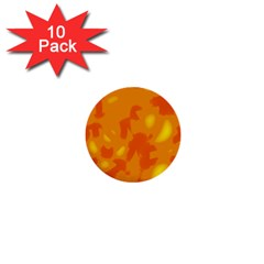 Orange decor 1  Mini Buttons (10 pack)