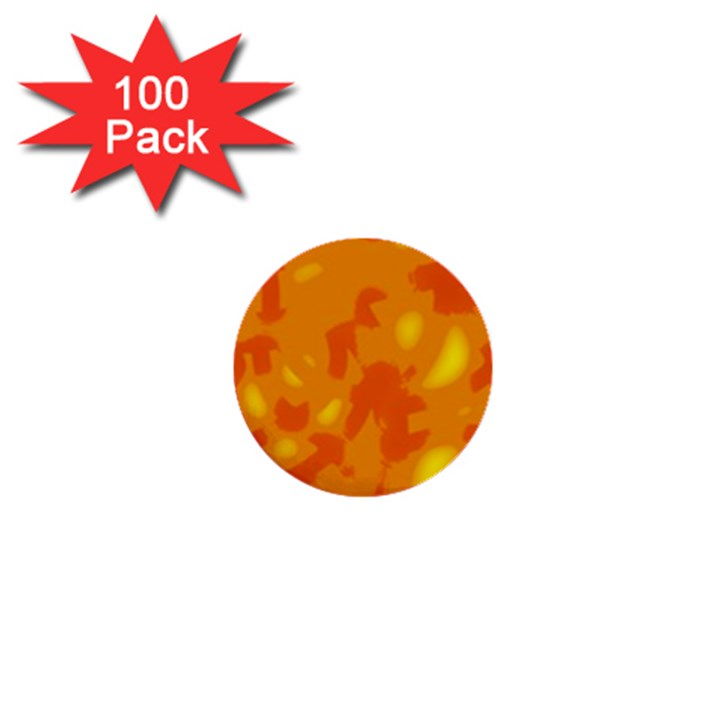Orange decor 1  Mini Buttons (100 pack)