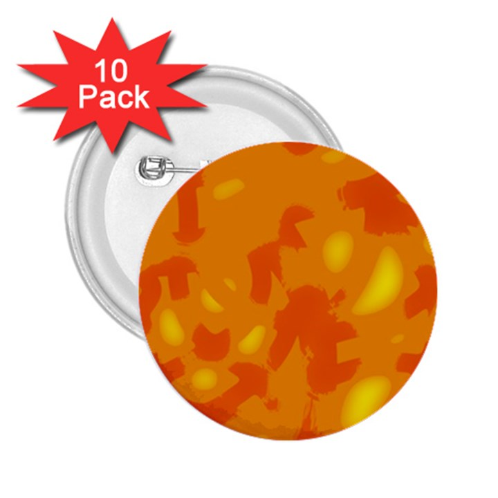 Orange decor 2.25  Buttons (10 pack)