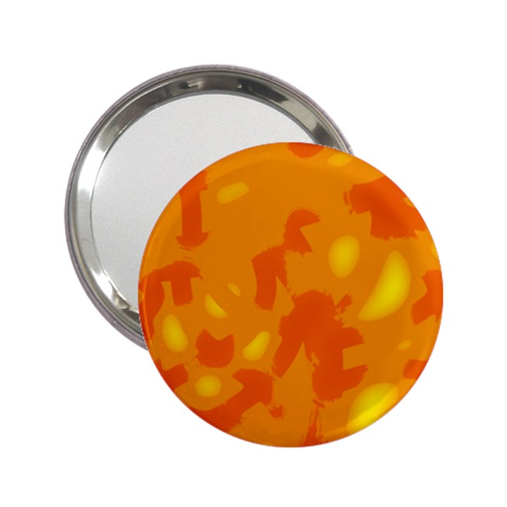 Orange decor 2.25  Handbag Mirrors