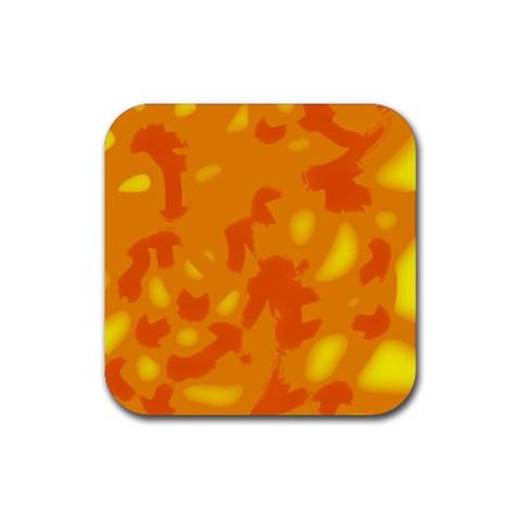 Orange decor Rubber Coaster (Square)