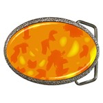 Orange decor Belt Buckles Front
