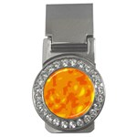 Orange decor Money Clips (CZ)  Front
