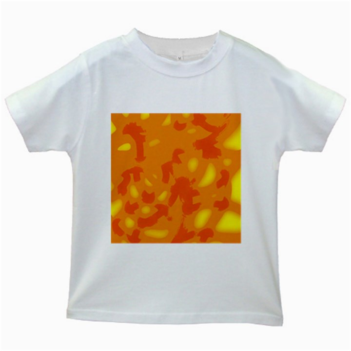 Orange decor Kids White T-Shirts