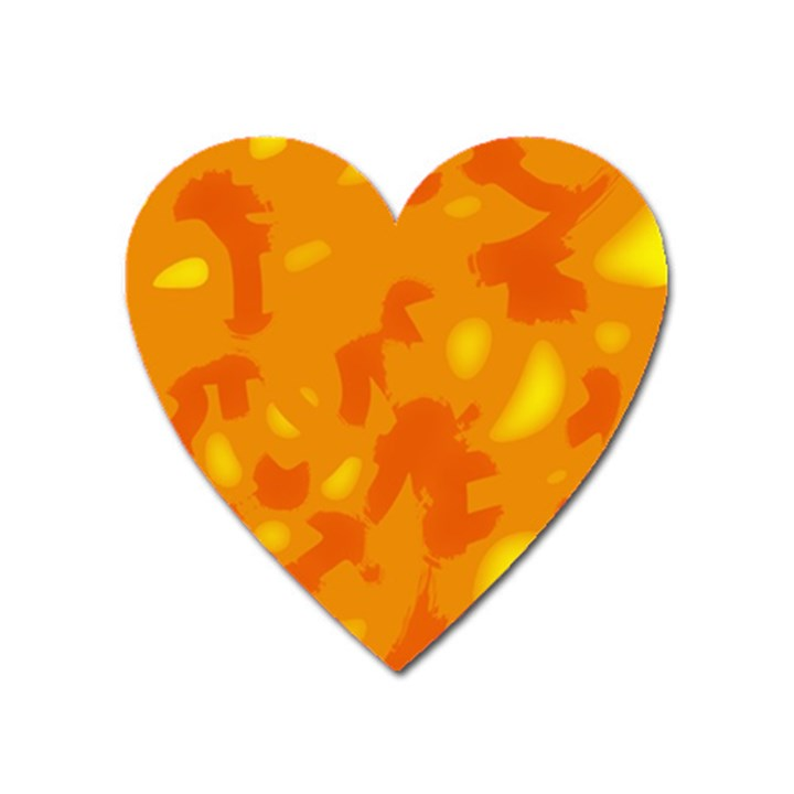 Orange decor Heart Magnet