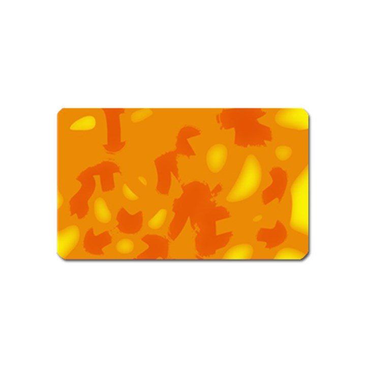 Orange decor Magnet (Name Card)