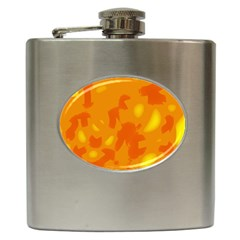 Orange decor Hip Flask (6 oz)