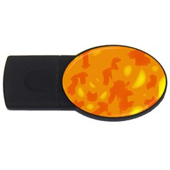 Orange decor USB Flash Drive Oval (1 GB)