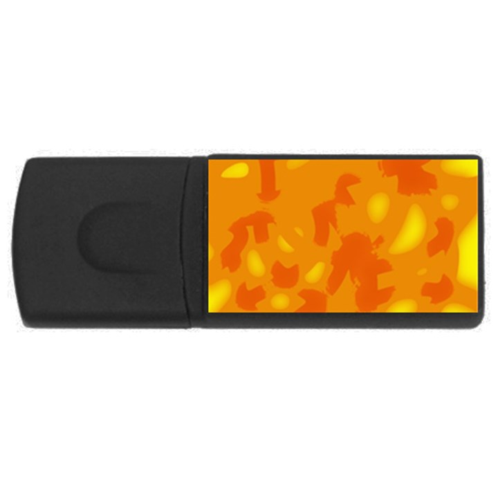 Orange decor USB Flash Drive Rectangular (2 GB)