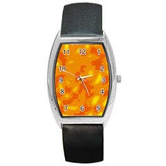 Orange decor Barrel Style Metal Watch