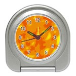 Orange decor Travel Alarm Clocks Front