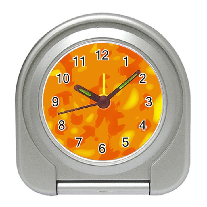 Orange decor Travel Alarm Clocks