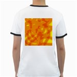 Orange decor Ringer T-Shirts Back
