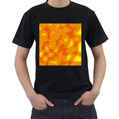 Orange Decor Men s T Shirt (black) (two Sided)