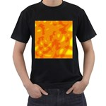 Orange decor Men s T-Shirt (Black) (Two Sided) Front