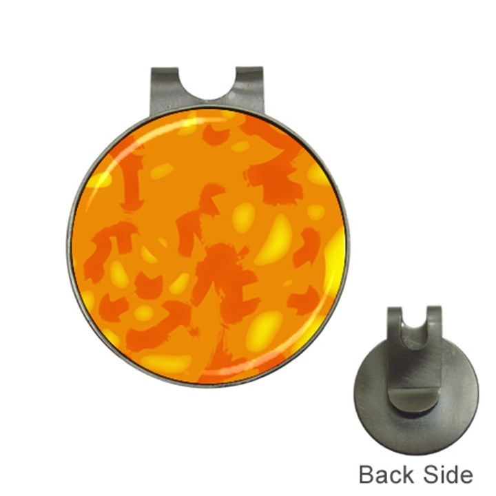 Orange decor Hat Clips with Golf Markers