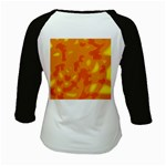 Orange decor Kids Baseball Jerseys Back