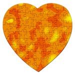 Orange decor Jigsaw Puzzle (Heart) Front