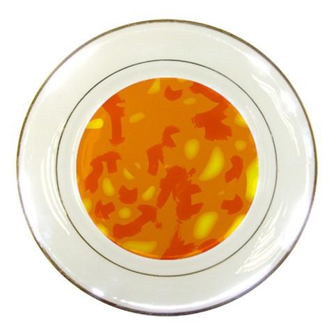 Orange decor Porcelain Plates