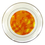 Orange decor Porcelain Plates Front