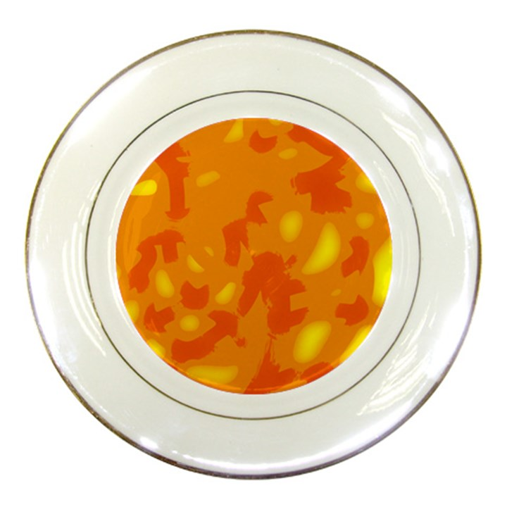Orange decor Porcelain Plates