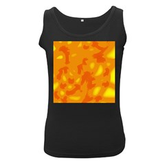 Orange decor Women s Black Tank Top