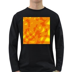Orange Decor Long Sleeve Dark T Shirts