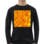 Orange decor Long Sleeve Dark T-Shirts Front