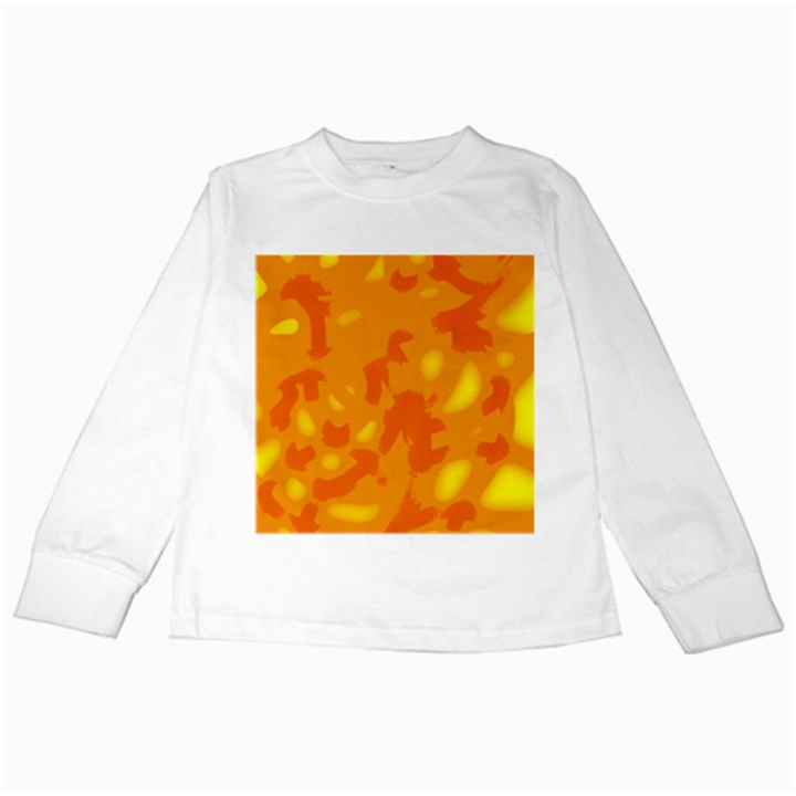 Orange decor Kids Long Sleeve T-Shirts