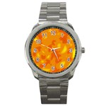 Orange decor Sport Metal Watch Front