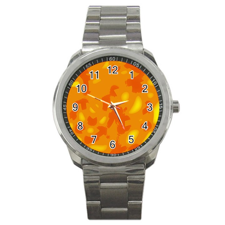 Orange decor Sport Metal Watch