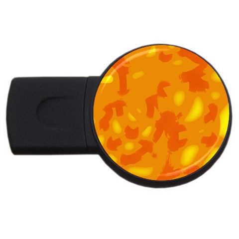 Orange decor USB Flash Drive Round (4 GB)