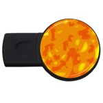 Orange decor USB Flash Drive Round (4 GB)  Front