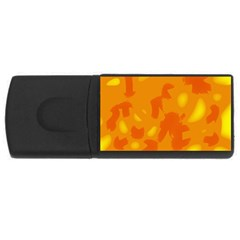 Orange decor USB Flash Drive Rectangular (4 GB)