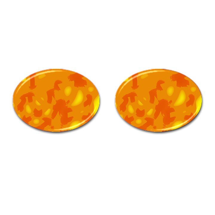 Orange decor Cufflinks (Oval)