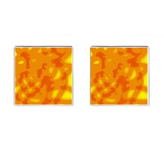 Orange decor Cufflinks (Square)